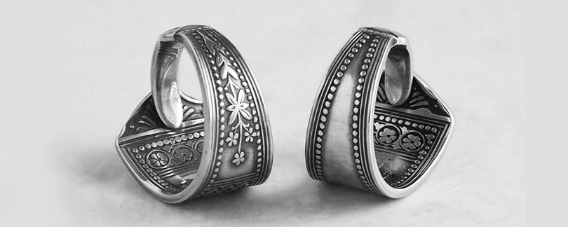 Milomade Commission - Promise Rings made from two Roumanian Silver Teaspoons