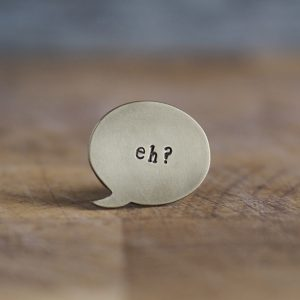 Speech Bubble Lapel Pins