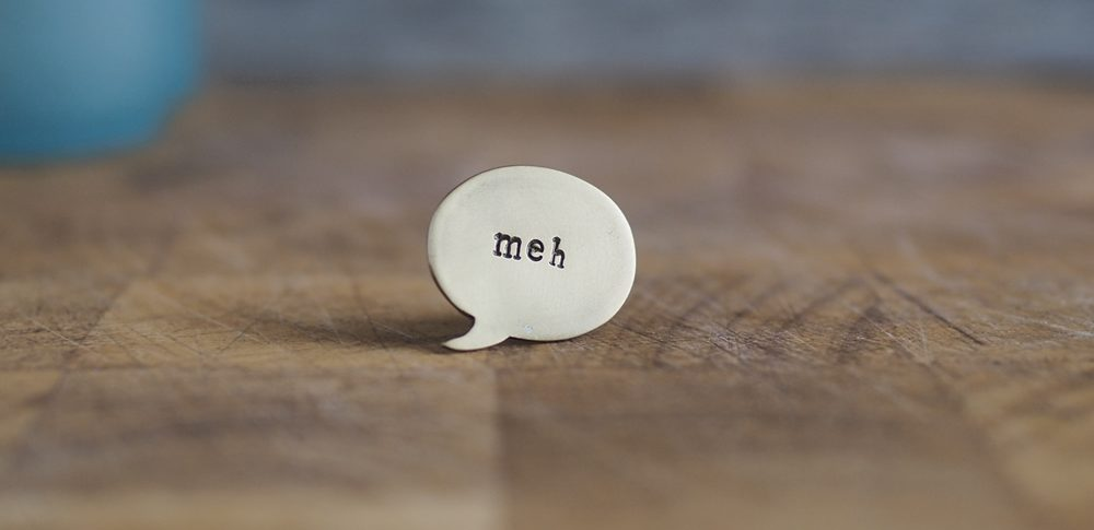 Top Brass Lapel Pin Say it like it is... meh