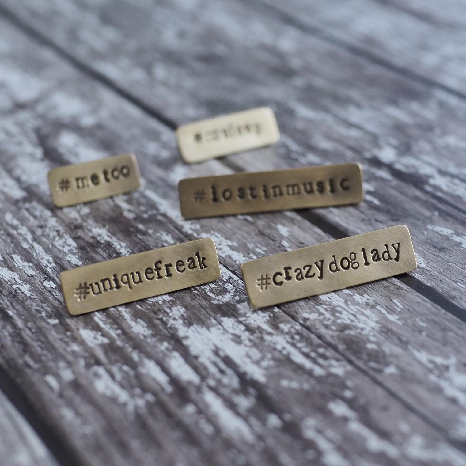 Top Brass Lapel Pins - Hashtag Lapel Pins