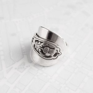 Milomade Antique Silverware Spoon Ring - Made by Evie Milo #TheSpoonLady - Carduus - Edinburgh 1978
