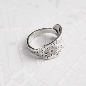 Milomade Antique Silverware Spoon Ring - Made by Evie Milo #TheSpoonLady - Dearcún- Sheffield 1962/63