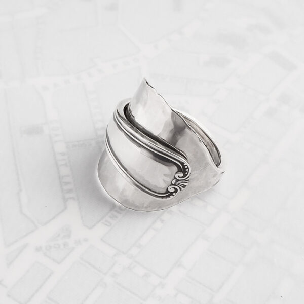 Milomade Antique Silverware Spoon Ring - Made by Evie Milo #TheSpoonLady - Clúmh - Sheffield 1932