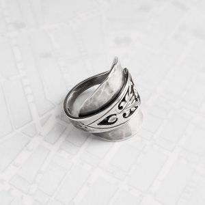 Milomade Antique Silverware Spoon Ring - Made by Evie Milo #TheSpoonLady - Carduus Wrap - Edinburgh 1971