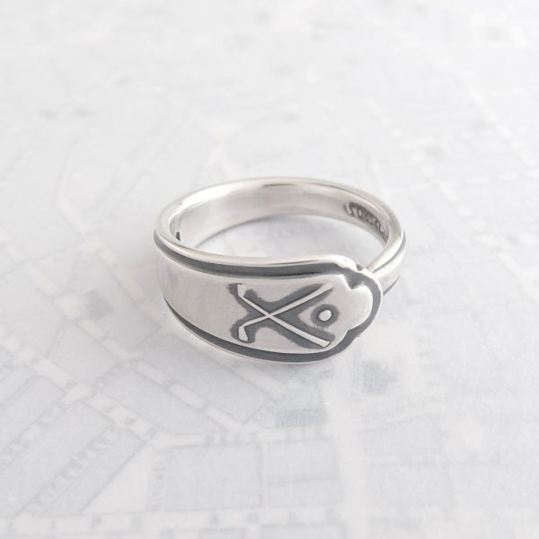 Milomade Antique Silverware Spoon Ring - Made by Evie Milo #TheSpoonLady - Gailf - Sheffield 1932