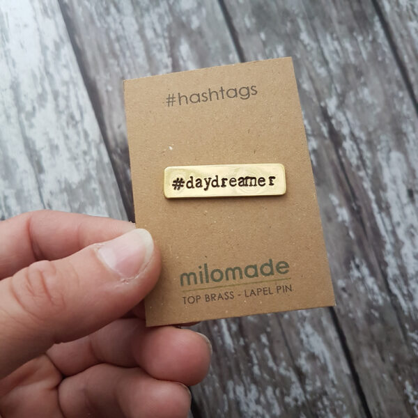 #DayDreamer Hashtag Lapel Pin
