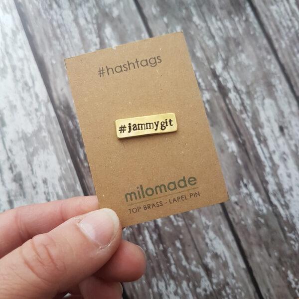 #JammyGit Hashtag Lapel Pin