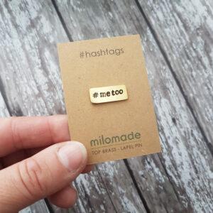 #MeToo Hashtag Lapel Pin