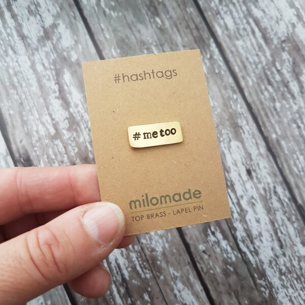 #MeToo Hashtag Lapel Pin