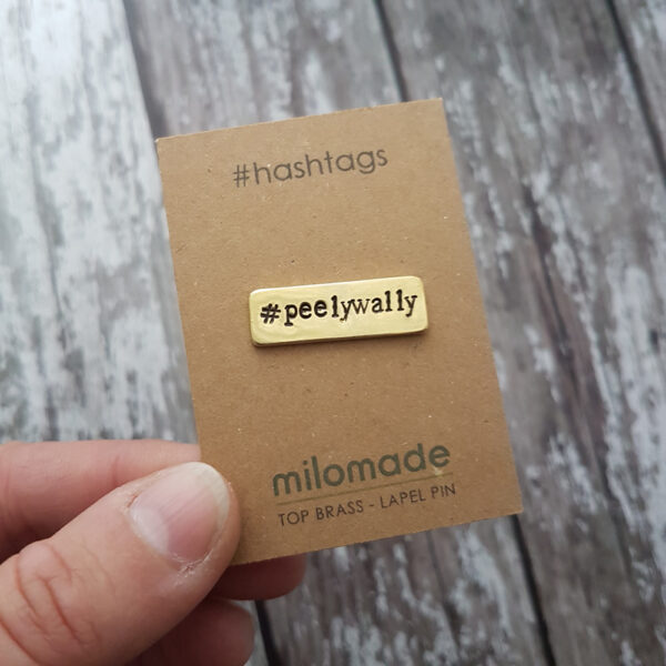 #PeelyWally Hashtag Lapel Pin
