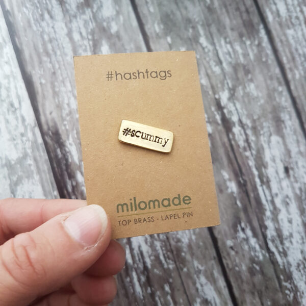 #Scummy Hashtag Lapel Pin