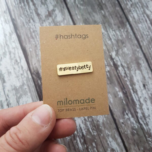 #SweatyBetty Hashtag Lapel Pin