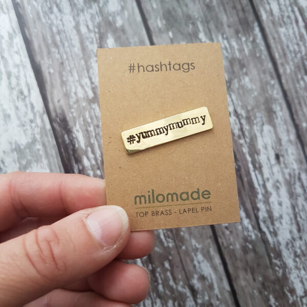 #YummyMummy Hashtag Lapel Pin