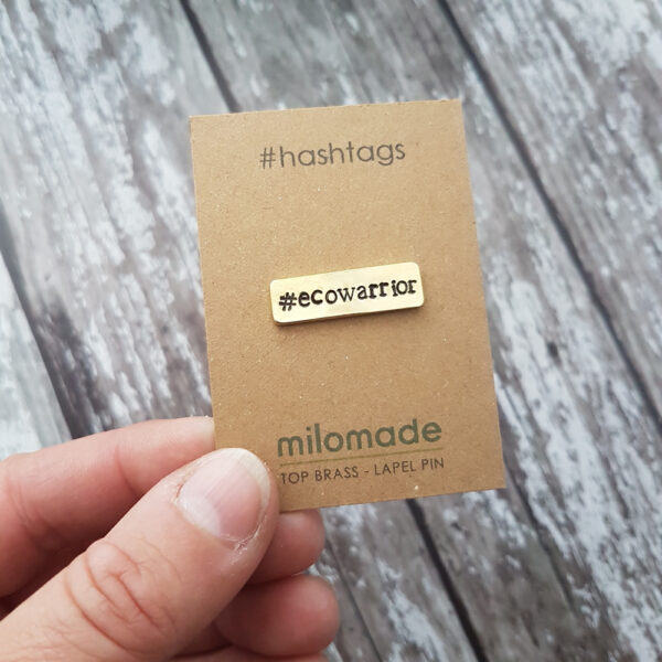 #EcoWarrior Hashtag lapel Pin - For the Eco Warrior in your life
