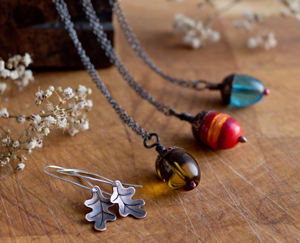Acorn Pendants now available at the Northern Lights Gallery in Keswick, Cumbria
