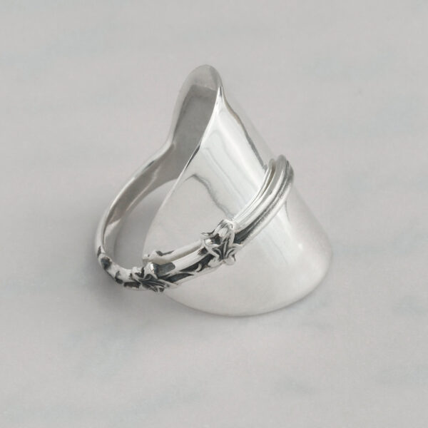 Three Little Birds Wrap Ring - Made from stems of antique sterling silver teaspoons