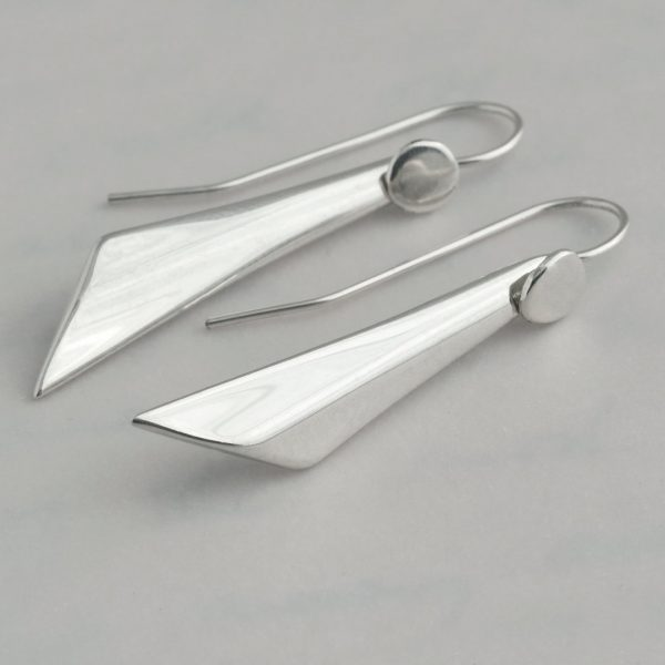 Unique, one of a kind sterling silver studs made from antique sterling silver teaspoons