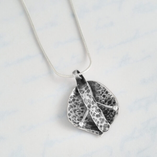 Flower Pendant made from recycled sterling silver teaspoons
