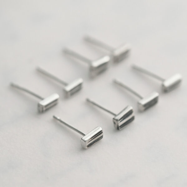 Stems studs made from antique silver teaspoons
