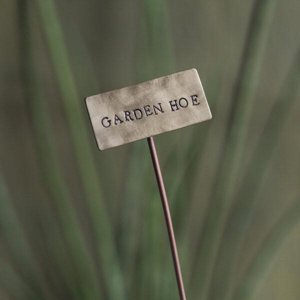 Brass Plant Marker - Garden Hoe