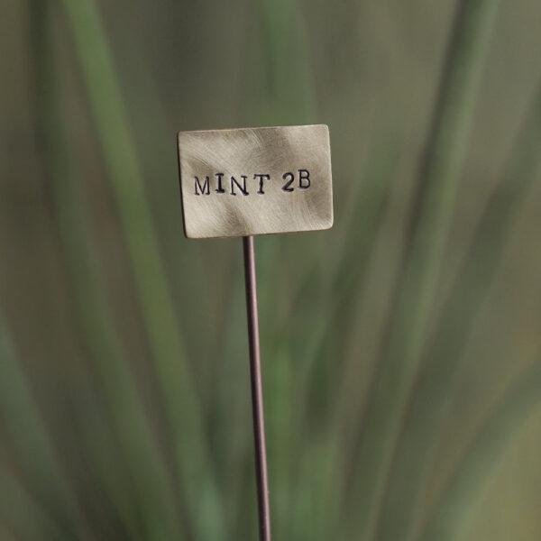 Brass Plant Marker - Mint 2B