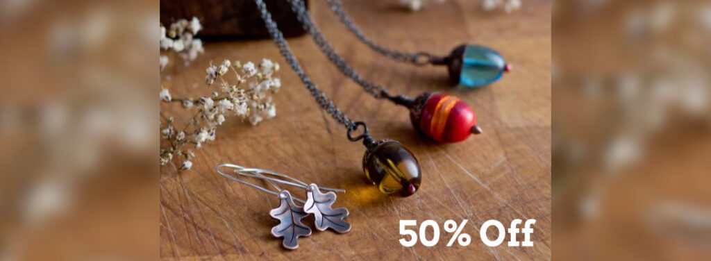 Get 50% off these acorn pendants