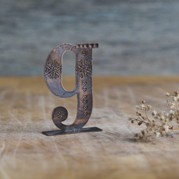 Handcrafted Copper Type - Letter G