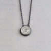 Heirloom Button Pendant - White