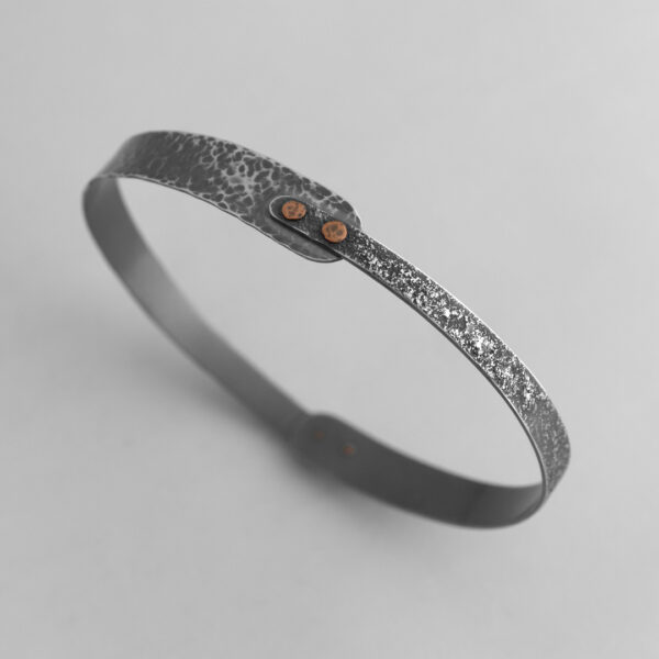 Seashore Bangle with Copper Rivets
