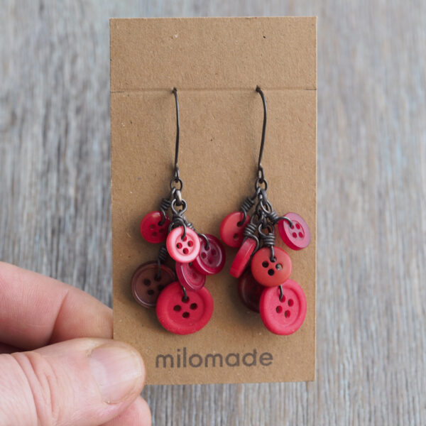 Button Cluster Earrings