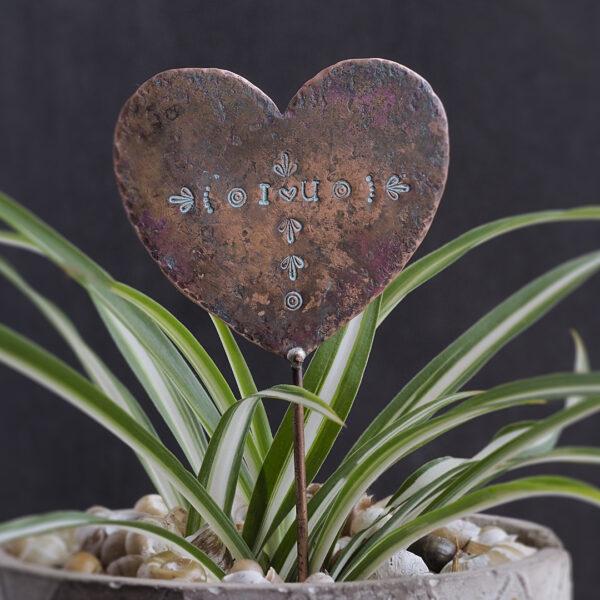 Copper Heart Plant Maker - I Love You