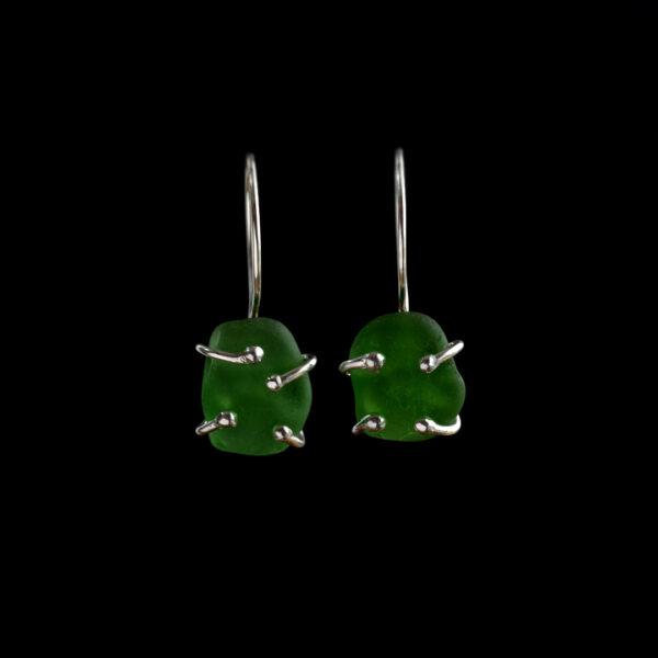 Emerald Green Sea Glass Drops