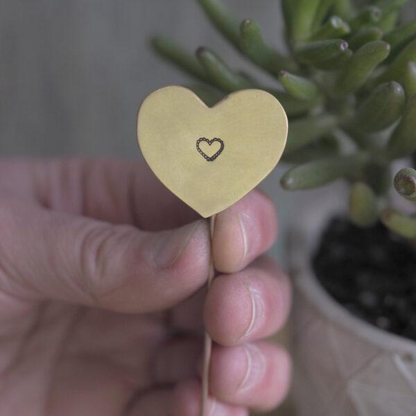Brass Heart Plant Maker - Single Heart