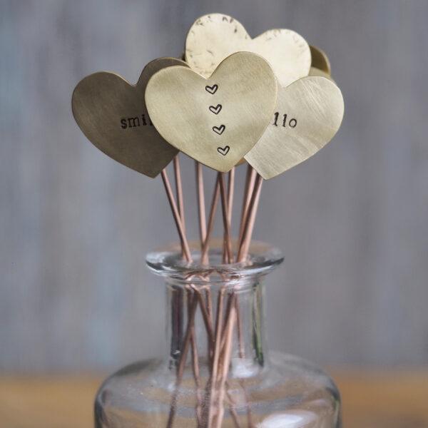 Brass Heart Plant Maker - Four Heart