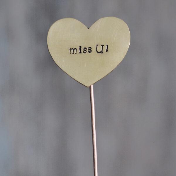 Brass Heart Plant Maker - miss U!