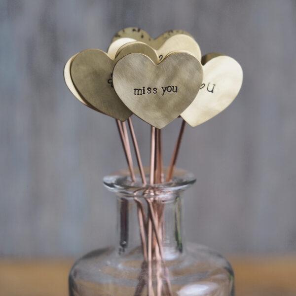 Brass Heart Plant Maker - miss you
